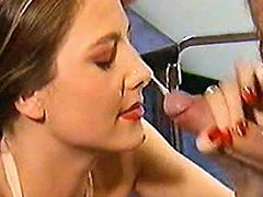 Beauty nurse gets facial