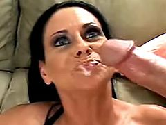 Milf fucks and tastes cum