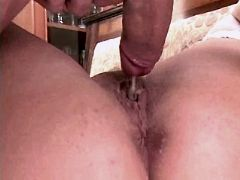 Chubby mom gets creampie