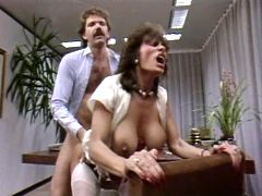 Retro secretary is horny as hell