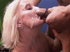 Granny gets fresh facial