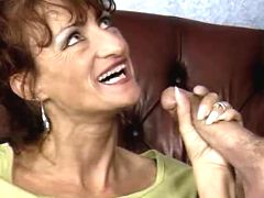 Mom doing perfect hand and blow job