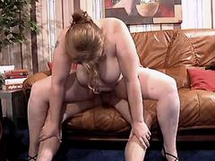 Busty mom jumps on cock