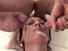 Mom gets facials in orgy