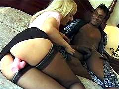 Blond milf wants big black dick