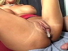 Blonde mature has awesome sex and gets creampie