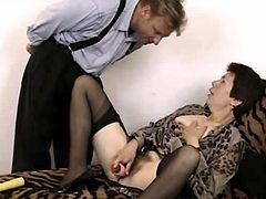 Hot mature jumps on cock