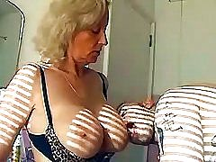 Old granny gets to taste young dick