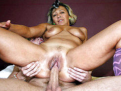 The hot hardcore scene features a mature chick getting ball stuffed with a nice big cock meat
