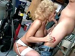 Redhead milf gets fuck in office